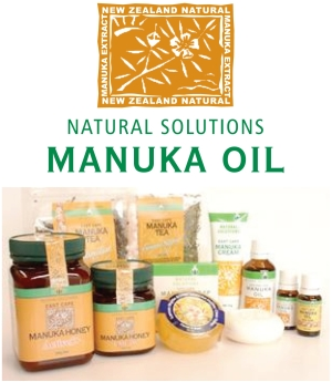 Natural Solutions East Cape Manuka Oil product range